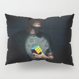 The distinguished gentleman with a cube heart Pillow Sham