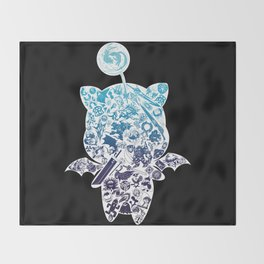 Moogleverse (blue) Throw Blanket