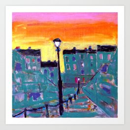 Montmart Art Print