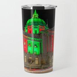 City Hall Holiday Night Light Travel Mug