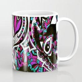 Colourful Mandala Elephant Coffee Mug