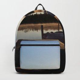 Sunrise over Canoes Backpack