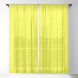 NEON YELLOW solid color Sheer Curtain