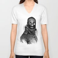 wrestling V-neck T-shirts featuring Wrestling mask 3 by DIVIDUS