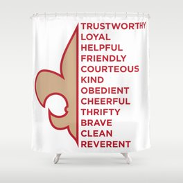 Scout Law Shower Curtain