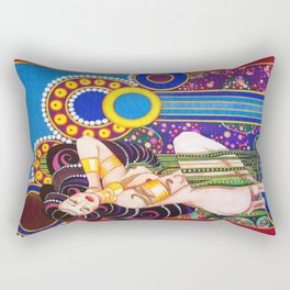 African Klimt Rectangular Pillow
