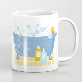 Bubble Bath Tub Coffee Mug