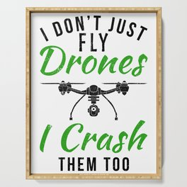 DRONE PILOT FUNNY GIFT IDEA Serving Tray