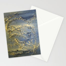 Flowing blue Stationery Cards