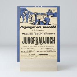 plakater jungfraujoch voyage en societe cff sbb Mini Art Print