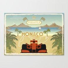 Formula 1 in Monaco Canvas Print