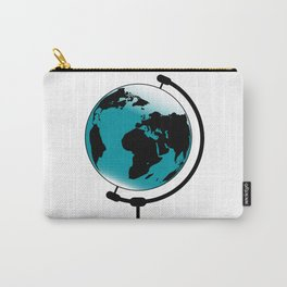 Mounted Globe On Rotating Swivel Carry-All Pouch