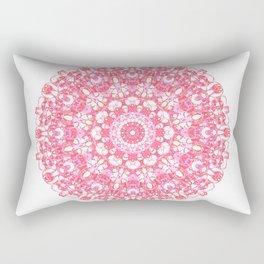 Mandala 12 / 1 eden spirit ruby red Rectangular Pillow