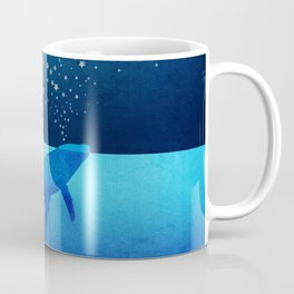 Whale Spouting Stars - Magical & Surreal Coffee Mug