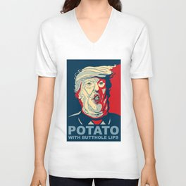 """Potato with Butthole Lips"" Unisex V-Neck"