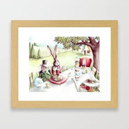 The Mad Tea Party - Alice in Wonderland - By Lewis Carroll Framed Art Print