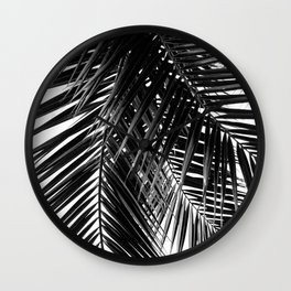 Tropical Vibes | Black and White Wall Clock