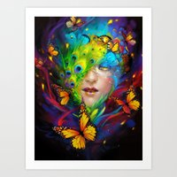 alchemy Art Prints featuring Alchemy by Lena Richards