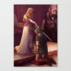 Legend of Zelda - The Knighting of Link Canvas Print