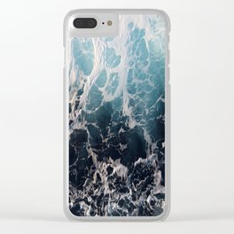 Blue Wave Surf Clear iPhone Case