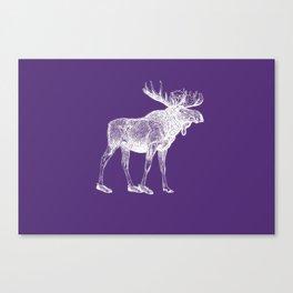 Moose Lost His Shoe (purple) Canvas Print