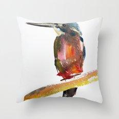 Azure Kingfisher Throw Pillow