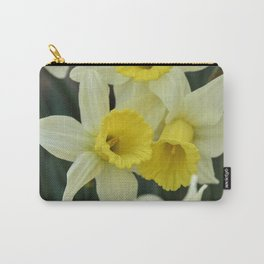 daffodils bloom in spring in the garden Carry-All Pouch