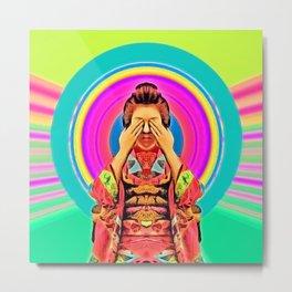 my geishas eyes are silent Metal Print
