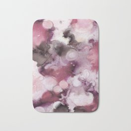 Organic Abstract in shades of plum Bath Mat