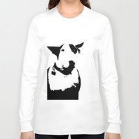 bull terrier Long Sleeve T-shirts featuring English Bull Terrier by Alex Birch