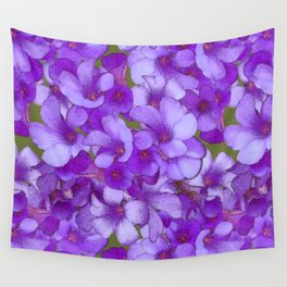 Purple Oxalis Wall Tapestry