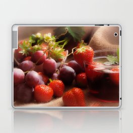 Fresh strawbeerie and Grapes to fall in love with Laptop & iPad Skin