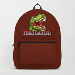 Tyrannosaurus Rex says HAHAHA! laughing Dinosaur Backpack