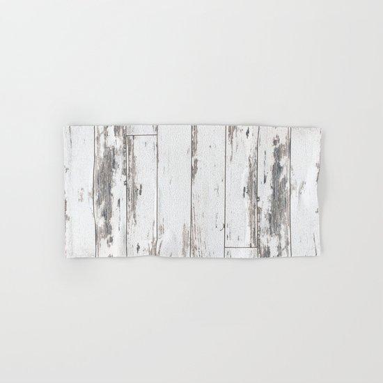 White Wood Hand & Bath Towel
