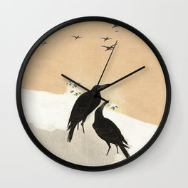 Crows from Koson Wall Clock