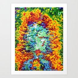 Depressive Doppler Deluge Art Print