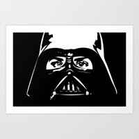 darth Art Prints featuring Darth  by shazii