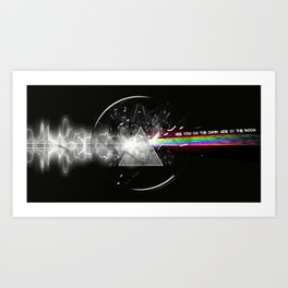 See You On The Dark Side Of The Moon Art Print