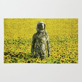 Stranded in the sunflower field Rug