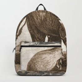 Elephant Sketch (Monochrome) Backpack
