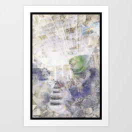 GREEN PIANOFORTE Art Print
