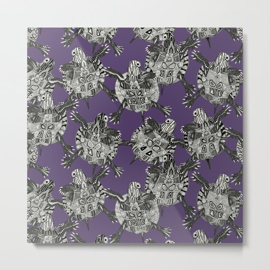 turtle party violet Metal Print