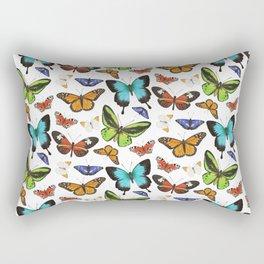 Butterflies - colourful pattern Rectangular Pillow
