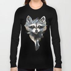 Raccoon stealing seeds! Long Sleeve T-shirt