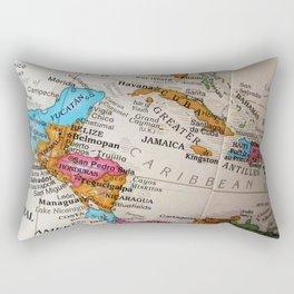 Map Art Rectangular Pillow