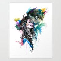 Splattered In Love Art Print