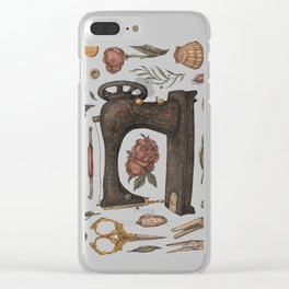 Sewing Collection Clear iPhone Case