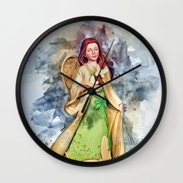 Butterfly Angel Wall Clock