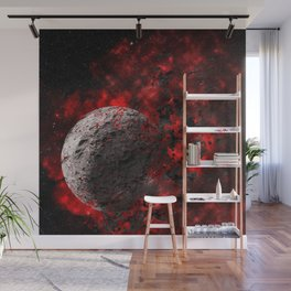 planet explode space universe Wall Mural