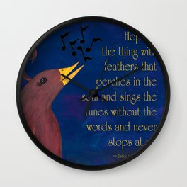 A Song of Hope Wall Clock